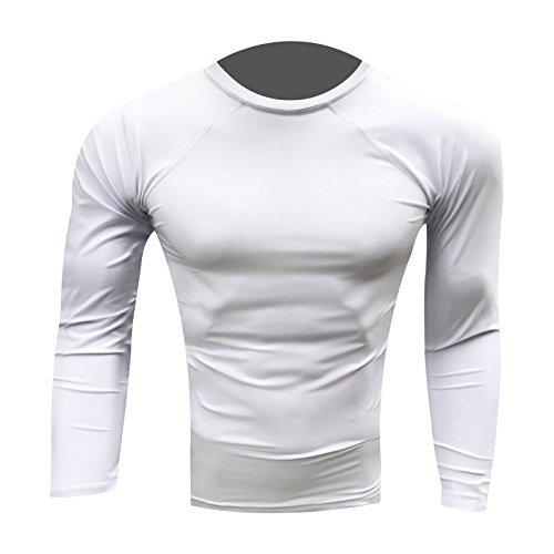 Prime Hastig Schutz Top MMA Laufen Ringen UFC Top T Shirt Herren Boxen Handschuhe Weiß Voll Arm groß Abbildung 2