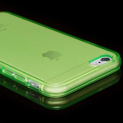 iPhone 8 Plus / 7 Plus Hülle Handyhülle von NICA, Ultra-Slim Silikon Case Cover Crystal Schutzhülle Dünn Durchsichtig, Etui Handy-Tasche Backcover Transparent Bumper für Apple iP 7+ / 8+ - Rot Transpa Grün Transparent