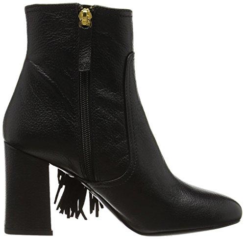 MOSCHINO Sca Nod Sua85 Capra Nero, Bottes Classiques femme Noir - Black (Black 000)