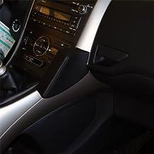 Kuda-Consola de teléfono para Toyota Auris a partir de 03/07,piel auténtica, color negro