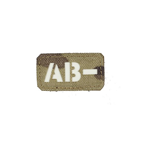 m-tac AB Negative ab-Blut Typ Patch-Laser-Cut Military Tactical Telefonist, Multicam - GITD -