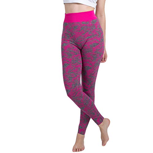 YpingLonk Damen Nahtlose Tarnung gestrickt Yoga Hosen Sporthose Seamless Pants Stricken Hip Sexy Leggings Hose schwarz keitsableitende Yogahose -