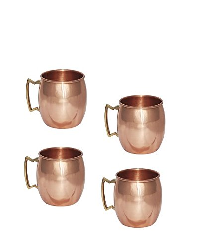 Stylla London Corps Style Cocktail Moscow Mule Tasses, Cuivre, Marron, 9.92 x 8.43 x 4.49 cm