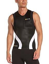 Skins Herren Sportkompressionstextilien Tri 400 Mens Top Sleeveless W Zip