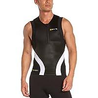 Skins Triathlon Sleeveless Half-Zip Compression Top