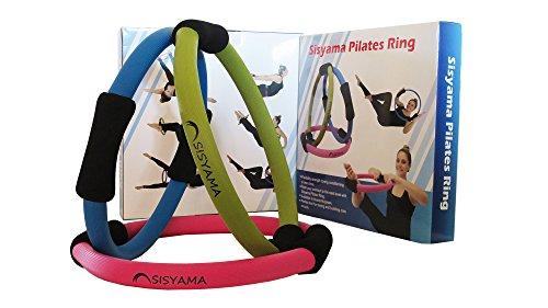 """Pilates-Anello per Pilates, Fitness Magic Circle 35,56 cm (14"""") migliore resistenza, uomo Donna, Maui Blue"""