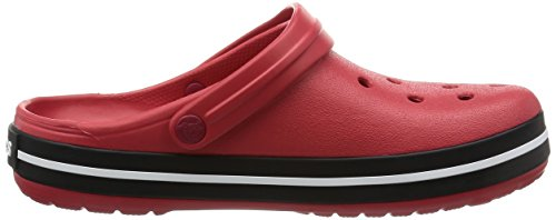 crocs Unisex-Erwachsene Crocband Clogs Rot (Pepper/Black)