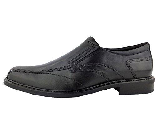 360 Leder Herren-Schuhe Slipper Halb-Schuh Freizeit Business Anzug bis Größe 48 Bob Schwarz