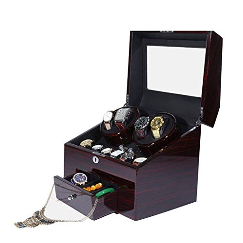 wellery Display Case Mens Watch Display Box, Accessories-Gift for Man, Women, Husband,Brown ()