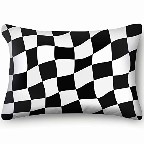 tuyi Checkered Flag Racing Flag Checker Sports Recreation Checker Sports Recreation Pillowcases Decorative Pillow Covers Soft and Cozy, Standard Size 20