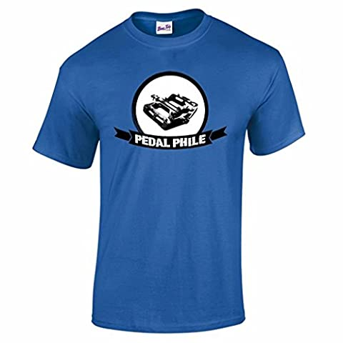 Pedal-Phile Mountain Biking MTB Downhill Trails Cycling Mens T Shirt-Royal Blue-M