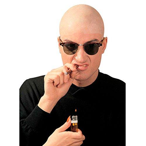 Amakando Glatze Perücke Glatzkopf Haube Latex Skinhead Gummiglatze Kappe Bald Head Kopfhaube Clown Kopfbedeckung Glatzen Fasching Accessoires Karneval Kostüm - Glatzkopf Kostüm Perücke