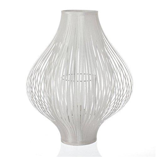 Lampe à poser pliante en polyester blanc (D.34xH.44cm)
