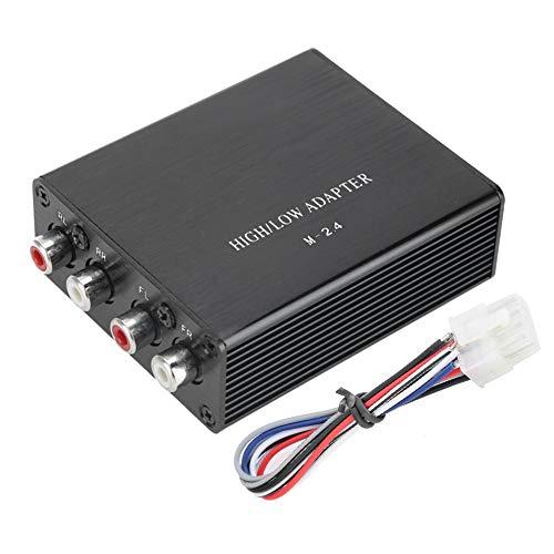 EBTOOLS Car Audio Converter, 12 V Auto Aluminium + PCB Stereo Lautsprecher Horn Audio Verstärker Hoch Niederfrequenz Wandler (Schwarz) Niederfrequenz-wandler