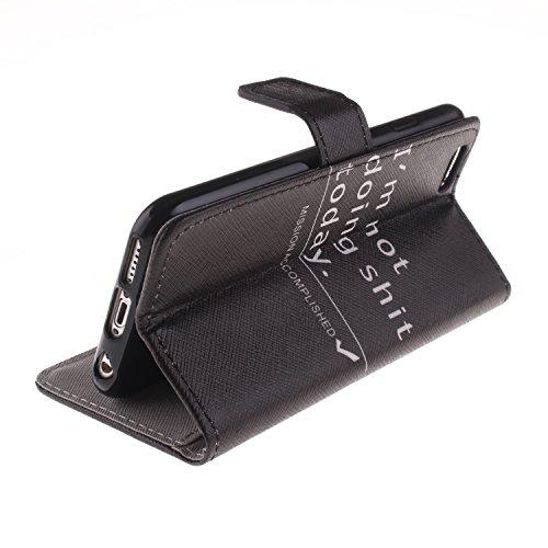 """MOONCASE iPhone 6 Plus Case Dessin Coloré Coque en Cuir Haute Qualité Portefeuille Housse de Protection Étui à rabat Case pour iPhone 6 Plus (5.5"""") -LK22 ST23"""