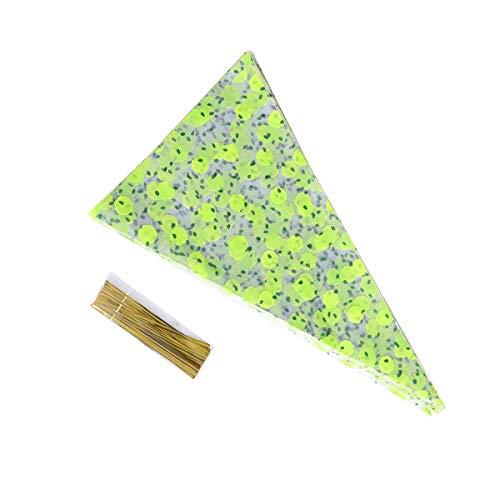 Vosarea 100 stücke Dreieck Süßigkeiten Verpackung Taschen Cookies Kekse Snacks Verpackung Taschen mit Krawatten