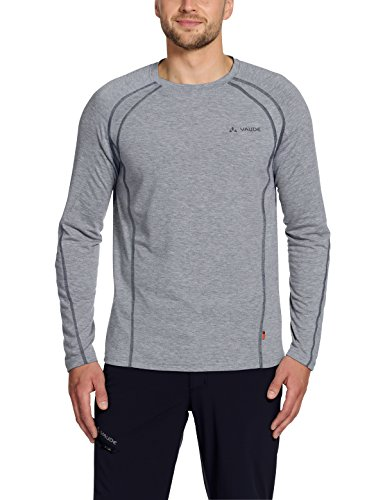 Vaude Signpost Long Sleeve Shirt Herren, Grey-Melange/Iron, XXXL, 50259185700