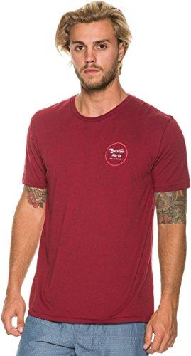 Brixton Herren T-Shirt Wheeler Standard Burgundy