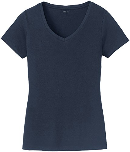 Joe's USA Joe de EE. UU, cuello de pico manga corta ligero algodón camisetas