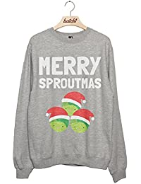 Batch1 Merry Sproutmas Christmas Brussels Sprouts Womens Festive Xmas Sweatshirt