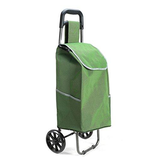 Leichter Faltbarer Einkaufswagen | Warenkorb Trolley Koffer Gepäck 2 Verschleißfeste PU-Rad Ergonomischer Griff Zusammenklappbare Push, Pull Carts Oxford Tuch Einkaufstasche Große Kapazität 30L