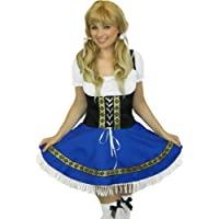 Yummy Bee Oktoberfest Costume Disfraces Chica de Cerveza Bávaro + Medias Blancas Disfraz Mujer Talla Grande 38 - 50 (Donna: 42)