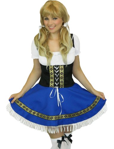 Yummy-Bee-Oktoberfest-Fancy-Dress-Plus-Size-10-22-German-Beer-Girl-Costume-Ladies-STOCKINGS