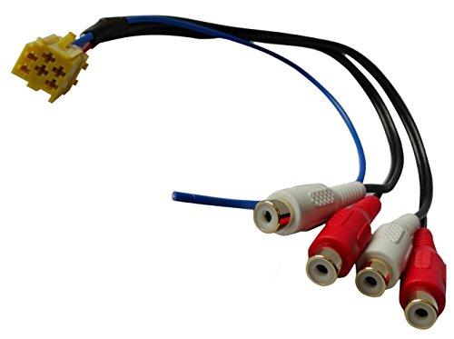 Gehäuse Lautsprecher Auto (Aerzetix: Steckeradapter Steckdose Mini ISO gelb bis 4 Cinch für vorverstärkte Lautsprecher-Gehäuse Auto Auto zurück, bevor Funkstellen)