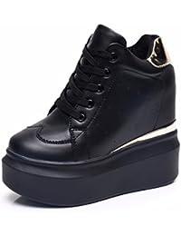GTVERNH Zapatos de Mujer/Verano/Fondo Grueso Zapatos de Deporte Interior Alto Invisible Mujer Zapatos Muffins...