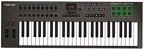 Nektar Impact lx49 + USB-MIDI-Controller-Keyboard mit DAW Integration (Workstation-kabel-tastatur)