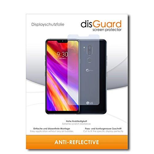 disGuard® Bildschirmschutzfolie [Anti-Reflex] kompatibel mit LG G7 ThinQ [2 Stück] Entspiegelnd, Matt, Antireflektierend, Extrem Kratzfest, Anti-Fingerabdruck - Panzerglas Folie, Schutzfolie