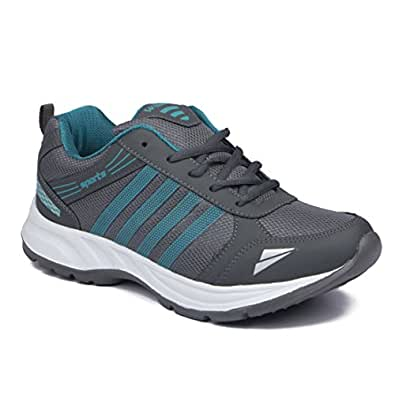 Asian shoes Men's Sports Shoe Grey Firozi Mesh 6 UK/Indian