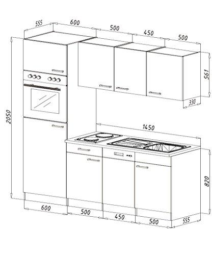 respekta built in kitchen unit kitchen york oak 205 cm. Black Bedroom Furniture Sets. Home Design Ideas