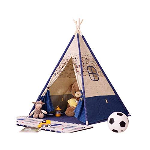 FANGDA Kinder Tuch Zelt Indoor Großwildhaus Baby Spielzeug Haus Prinzessin Haus Kinder Fotografie Requisiten (Zelt enthält Matten) 120 * 120 * 156cm,B