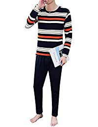 4291a5606164cb Winter Thermal Underwear Set Round Neck Cotton with Velvet Thick Cotton  Sweater Men's Autumn Clothing Long