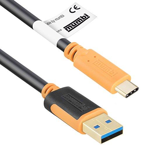 mumbi 1m Dual Color USB 3.0 Verbindungskabel - USB-C Stecker auf USB-A 3.0 Stecker - Kabel 100cm