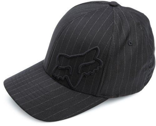 Fox Herren Flex 45 Flexfit Hat Baseball Cap, Black Pinstripe, Small/Medium