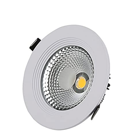 Spotlight Downlight Led Ceiling Light Living Room Bedroom Kitchen Embedded Hole 5W Cutout 76-100mm ( Color : 5W white light