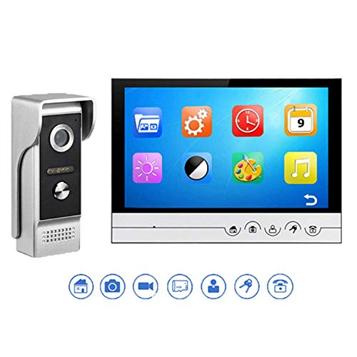 Mengen88 WiFi Kamera Waterproof Video Doorbell HD Night Vision Camera Video 9 Zoll Color Touch Key HD Video Intercom One Button Unlock Support TF Card - Hd Keys
