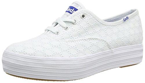 Keds Triple Eyelet, Chaussures à lacets femme - Blanc - 38