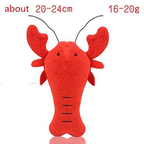 babyzhang Fleece Squeak Toy für kleine Hunde Cute Crayfish Crab Typ Pet Dogs Sounding Toys Katze Fisch Welpen Knochen Quietschendes Seil Spielzeug, Typ1 -