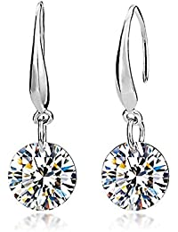 Lily Jewelry Ladies Fashion Elegant Silver Plated Austrian Crystal Drop Earings for Women