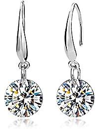 Lily Jewelry Damen-Ohrringe, 925 Sterlingsilber, Swarovski-Kristalle