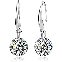 Jewelry Ladies Fashion Elegant Silver Plated Austrian Crystal Drop Earings for Women