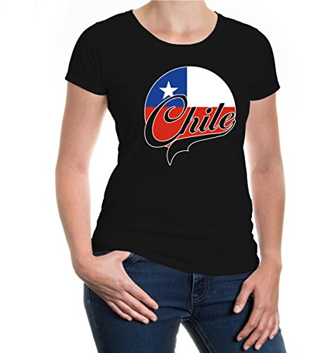 buXsbaum® Girlie T-Shirt Chile-Logo Black-z-direct