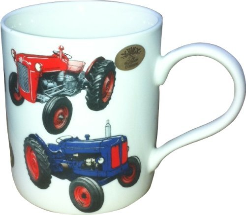 Lesser & Pavey Klassische Traktor China Becher, Mehrfarbig - Traktor-becher