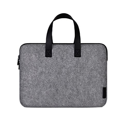 YiJee Custodia Protettiva per Macbook Pro Retina / Macbook Air Borsa in Feltro con Borsa Accessori da 11/13/15 Pollici 11 Inch Grigio