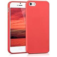 kwmobile Funda para Apple iPhone SE/5/5S - Case para móvil en TPU silicona - Cover trasero en rojo mate