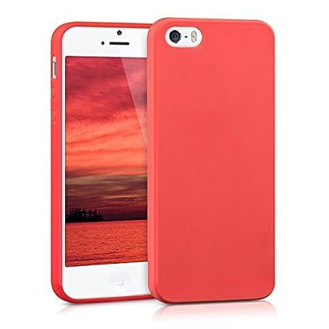 kwmobile Hülle für Apple iPhone SE / 5 / 5S - TPU Silikon Backcover Case Handy Schutzhülle - Cover Rot