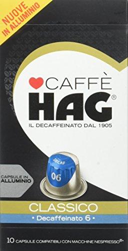 Hag capsule in alluminio nespresso compatibili - pacco da 100 capsule